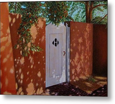 The Garden Gate Metal Print by Gene Gregory