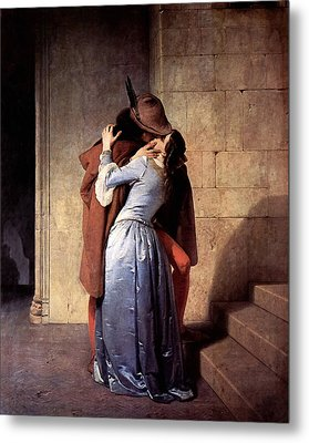 Metal Print featuring the digital art The Kiss by Francesco Hayez