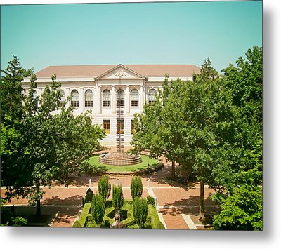 The Old Main - University Of Arkansas Metal Print by Mountain Dreams