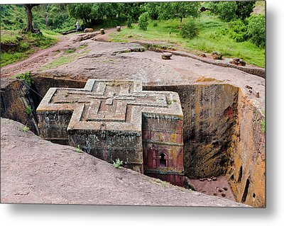The Rock-hewn Churches Of Lalibela Metal Print by Martin Zwick