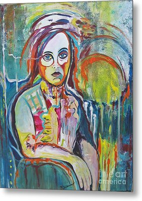 Metal Print featuring the painting The Show Must Go On by Diana Bursztein