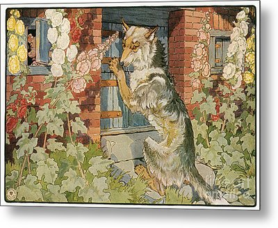The Three Little Pigs Metal Print by Granger