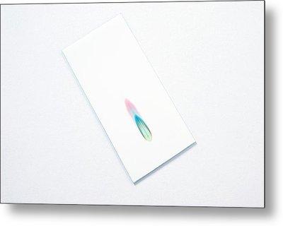 Thin-layer Chromatography Metal Print