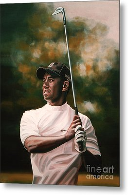 Tiger Woods  Metal Print by Paul Meijering