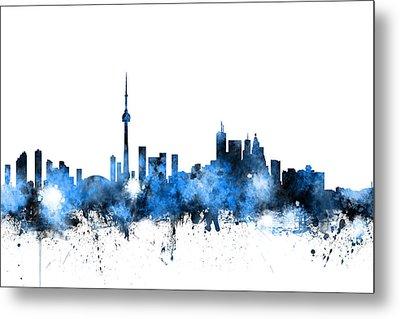 Toronto Canada Skyline Metal Print by Michael Tompsett