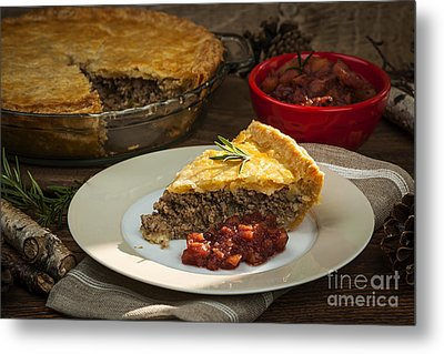Tourtiere Meat Pie Metal Print by Elena Elisseeva