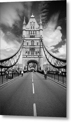 Tower Bridge In London Metal Print by Chevy Fleet