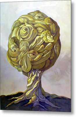 Tree Of Knowledge Metal Print by Filip Mihail