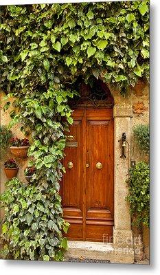 Tuscan Door Metal Print by Brian Jannsen