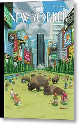 New Yorker August 27th, 2012 Metal Print by Bruce McCall