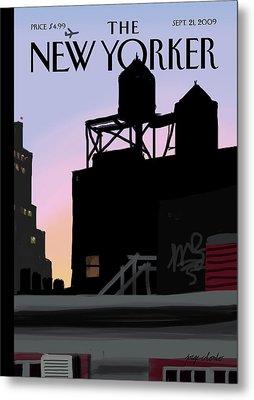 New Yorker September 21st, 2009 Metal Print