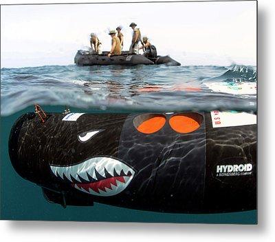 Us Navy Underwater Mine Clearance Drone Metal Print by U.s. Navy