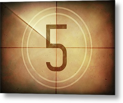 Vintage Movie Countdown Metal Print