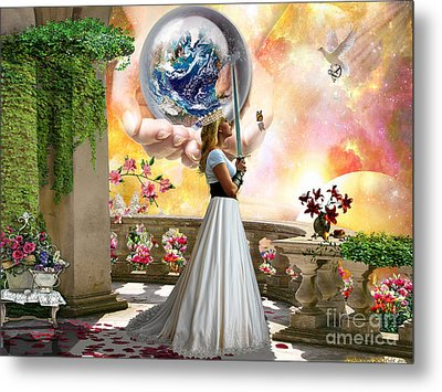 Warrior Bride Metal Print