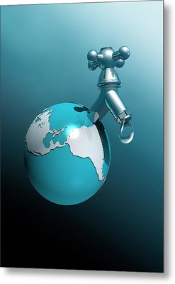 Water Shortage Metal Print by Victor Habbick Visions