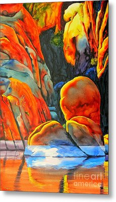 Watson Lake Metal Print by Robert Hooper