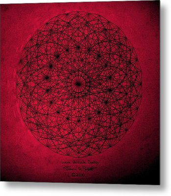 Metal Print featuring the drawing Wave Particle Duality by Jason Padgett