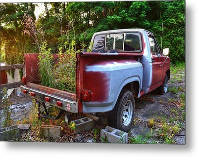 Weathered Truck Metal Print