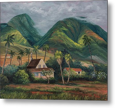 Metal Print featuring the painting West Maui Mountains by Darice Machel McGuire