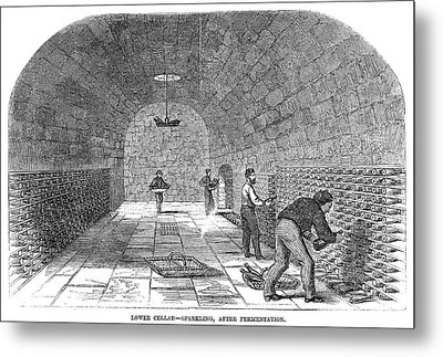 Winemaking Storage, 1866 Metal Print