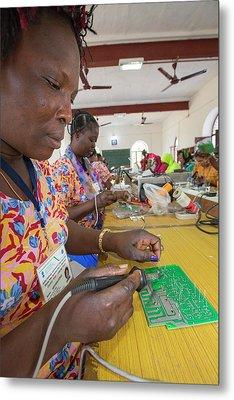 Women On A Solar Workshop Metal Print