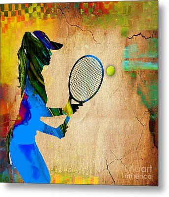 Womens Tennis Metal Print by Marvin Blaine