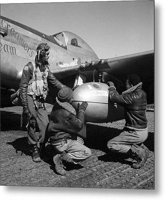 Wwii: Tuskegee Airmen, 1945 Metal Print by Granger