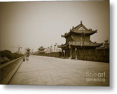 Xi'an City Wall China Metal Print by Fototrav Print