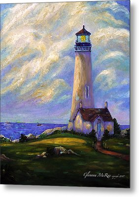 Yaquina Head Lighthouse Oregon Metal Print