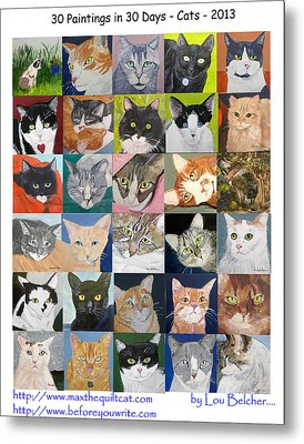 30 Paintings In 30 Days - Cats Metal Print