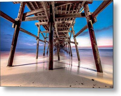 30 Seconds Under San Clemente Pier Metal Print by Robert  Aycock