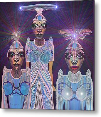 309 - Beautiful  Models  From Outer Space   Running For Miss Universe Metal Print