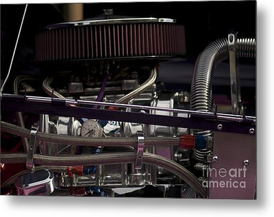 '31 Crown Victoria Engine Metal Print by Sean Stauffer