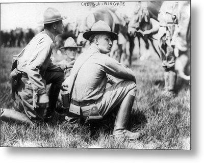 U.s. Soldiers, 1913 Metal Print by Granger