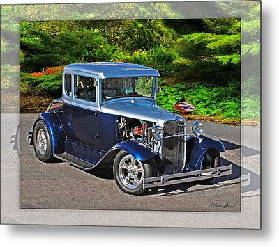 32 Ford Metal Print by Walter Herrit