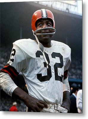 #32 Jim Brown Metal Print