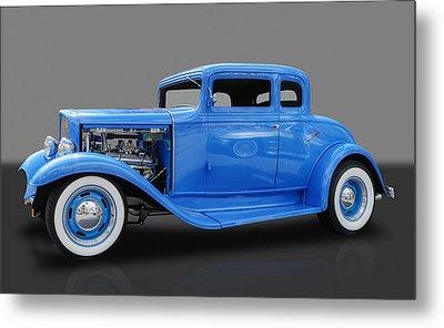 1932 Pontiac Sport Coupe 5 Window Metal Print by Frank J Benz
