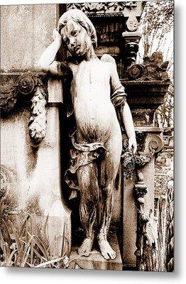 Pere-lachais Cemetery In Paris France Metal Print by Richard Rosenshein
