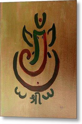 33 Rakta Ganesh Metal Print by Kruti Shah