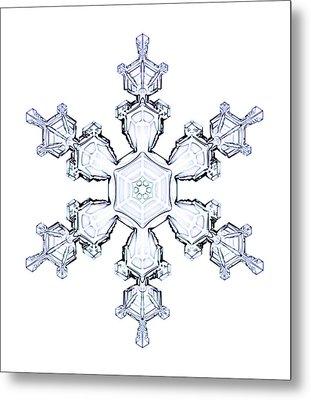 Snowflake Metal Print by Kenneth Libbrecht
