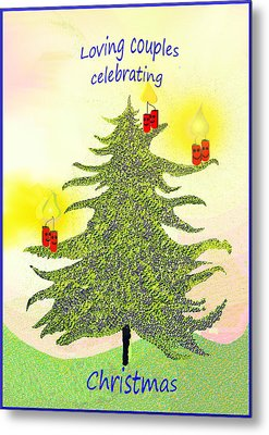 347 - A Christmas Card Metal Print by Irmgard Schoendorf Welch