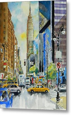 34th St. And 8th Ave Metal Print