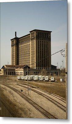 Michigan Central Station Metal Print