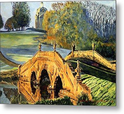 355 Ancient English Bridge Metal Print by David Lloyd Glover
