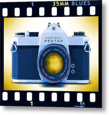 35mm Blues Pentax Spotmatic Metal Print by Mike McGlothlen