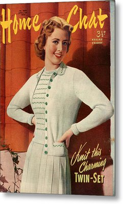 1950s Uk Home Chat Magazine Cover Metal Print