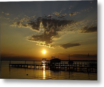 An Outer Banks Of North Carolina Sunset Metal Print