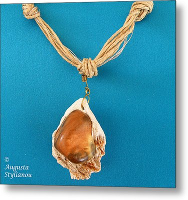 Aphrodite Gamelioi Necklace Metal Print by Augusta Stylianou