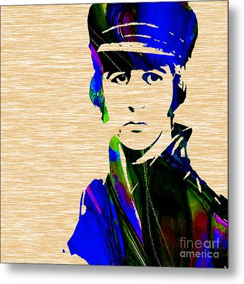 Ringo Starr Collection Metal Print by Marvin Blaine