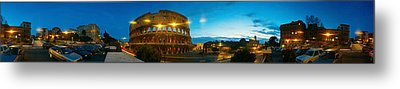 360 Degree View Of An Amphitheater Lit Metal Print by Panoramic Images
